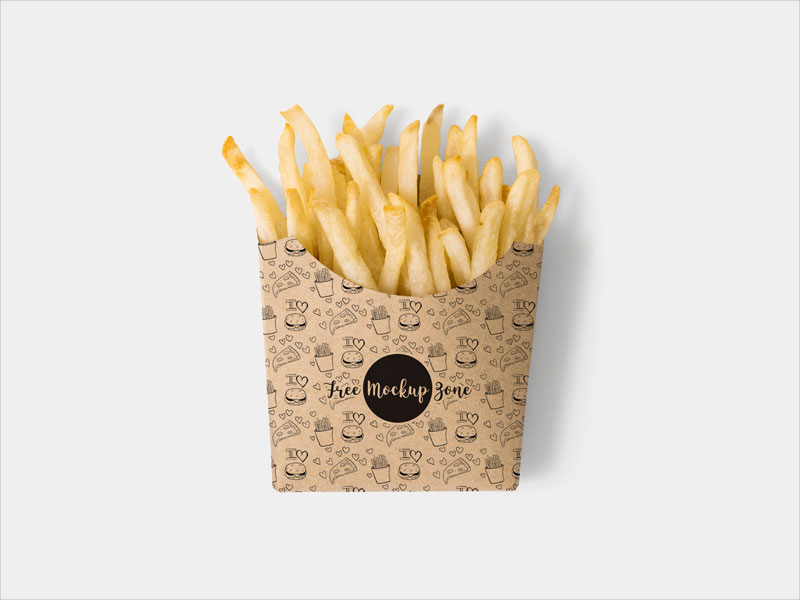 Free-Brown-Paper-French-Fries-Box-Mockup-Psd
