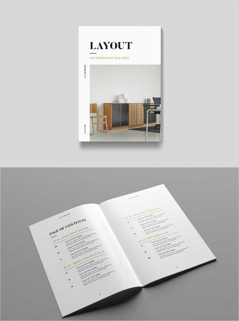 Layout-Magazine