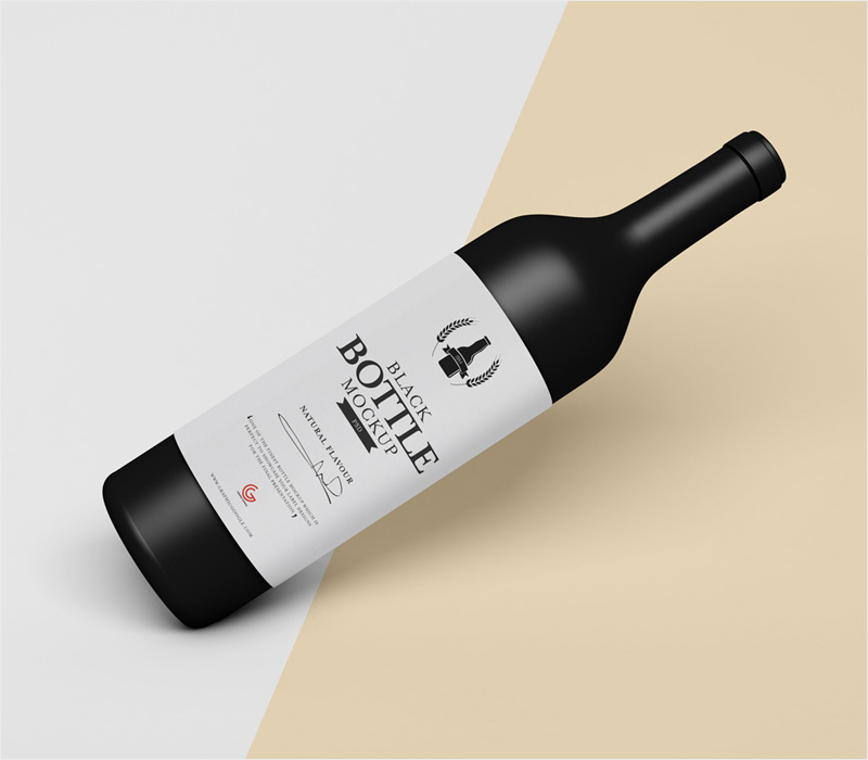 Free-Brand-Black-Beverage-Bottle-Mockup-PSD