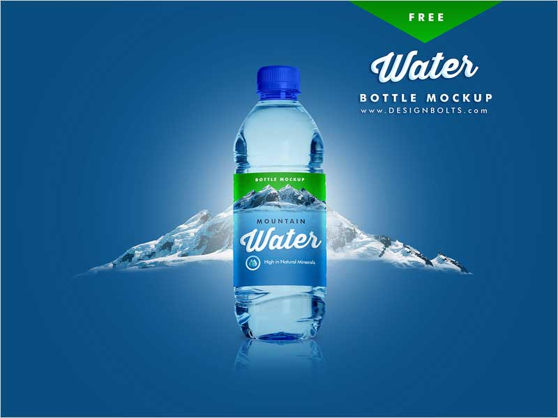 Free-PET-Water-Bottle-Mockup-PSD