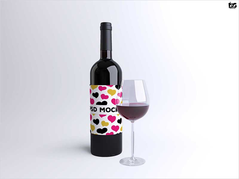 Free-Psd-Wine-Glass-Bottle-Label-Mockup