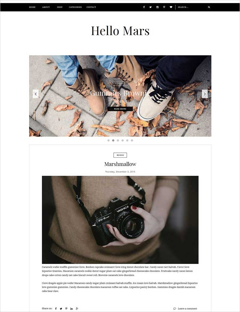 Blogger-Template---Hello-Mars