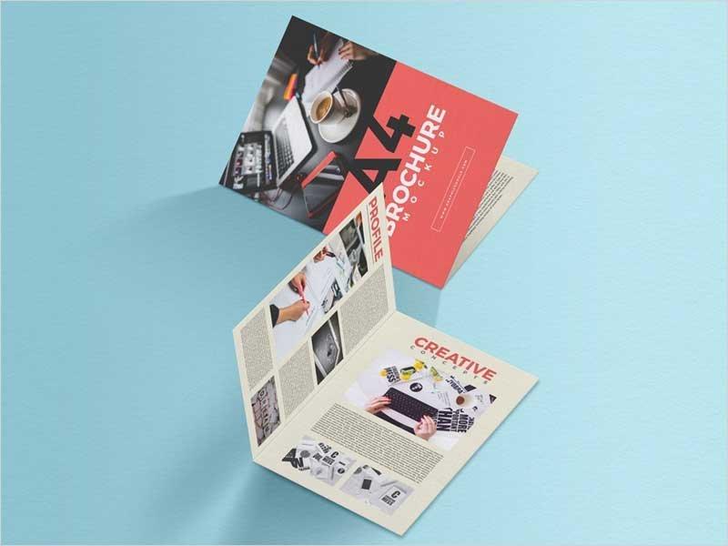 Free-A4-Folded-Brochure-PSD-Mockup