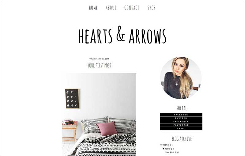 Hearts-and-Arrows-Blogger-Template