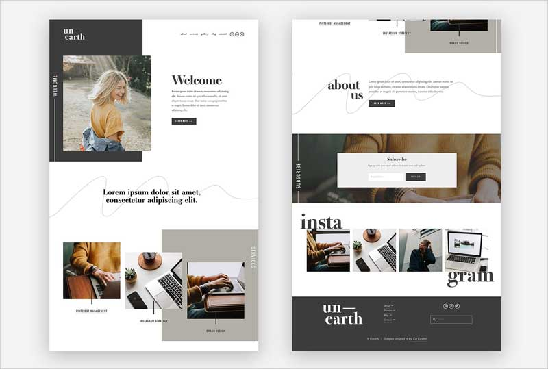 Squarespace-Template-Unearth
