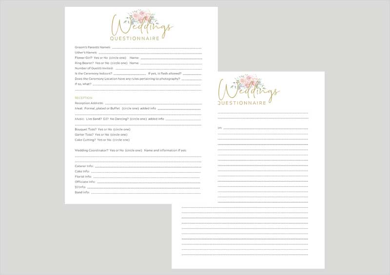 Canva-Wedding-Questionnaire