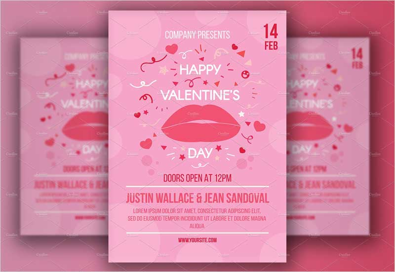 Valentine's-Day-Poster-With-Lips