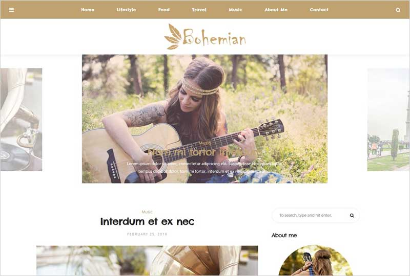 Bohemian---Wordpress-Blog-Theme