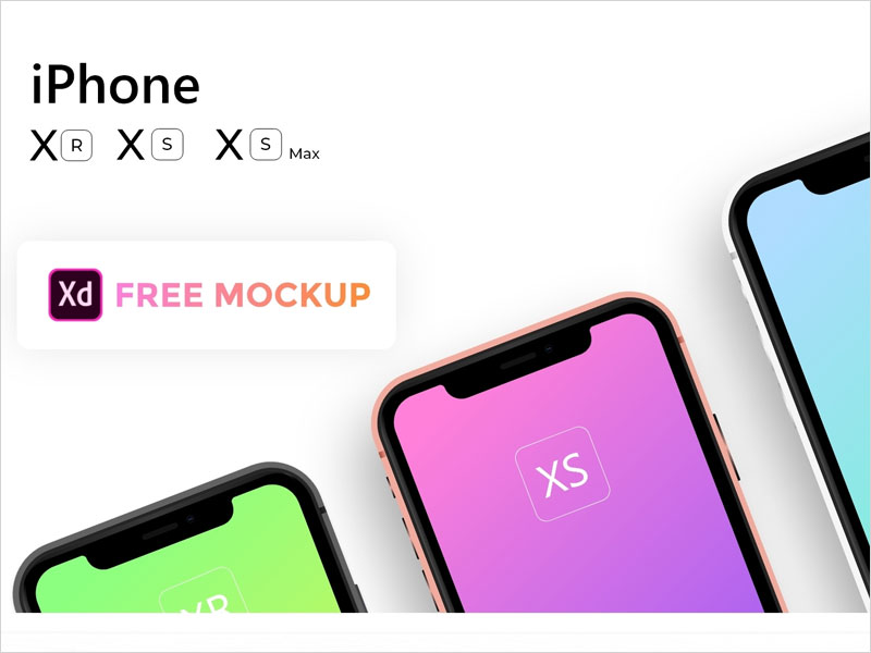 Free-Apple-iPhone-Xs,-Xs-Max,-Xr-Mockup
