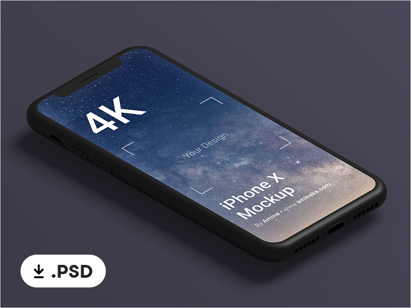 Free-Black-Clay-iPhone-X-Mockup