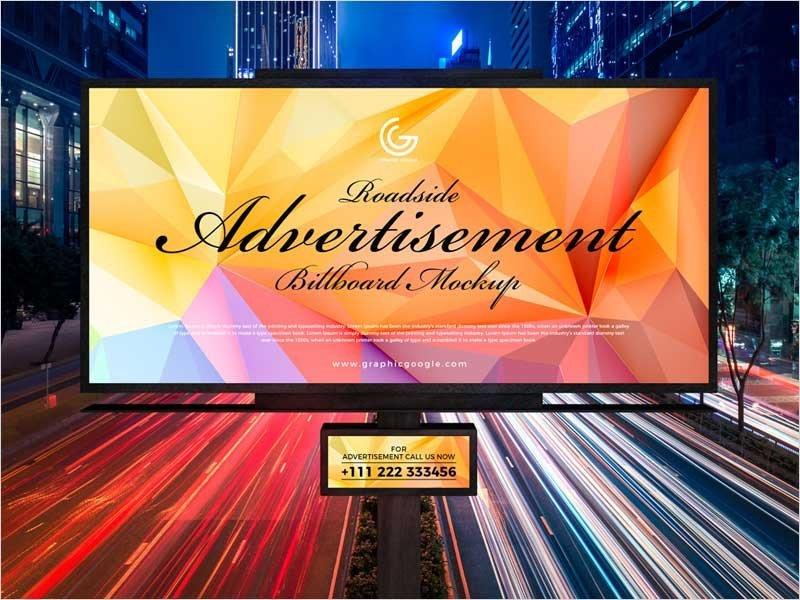 Free-Roadside-Advertisement-Billboard-Mockup-PSD