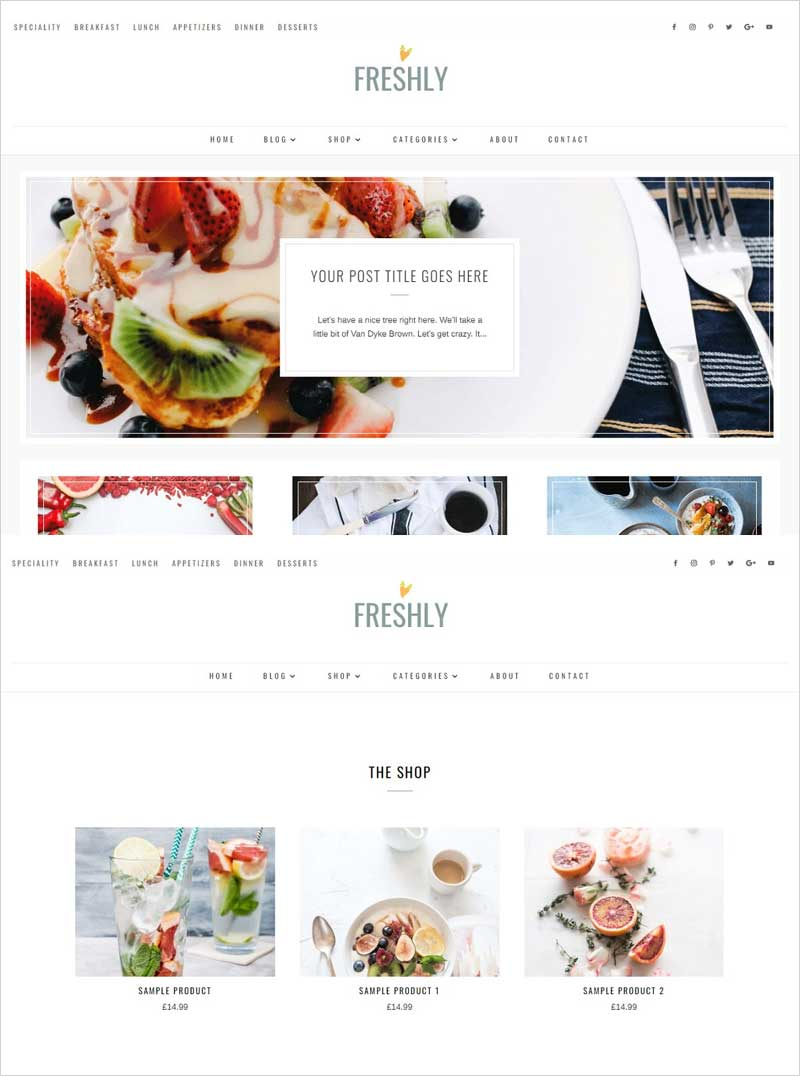 Freshly-Divi-Food-Recipe-Blog-Theme
