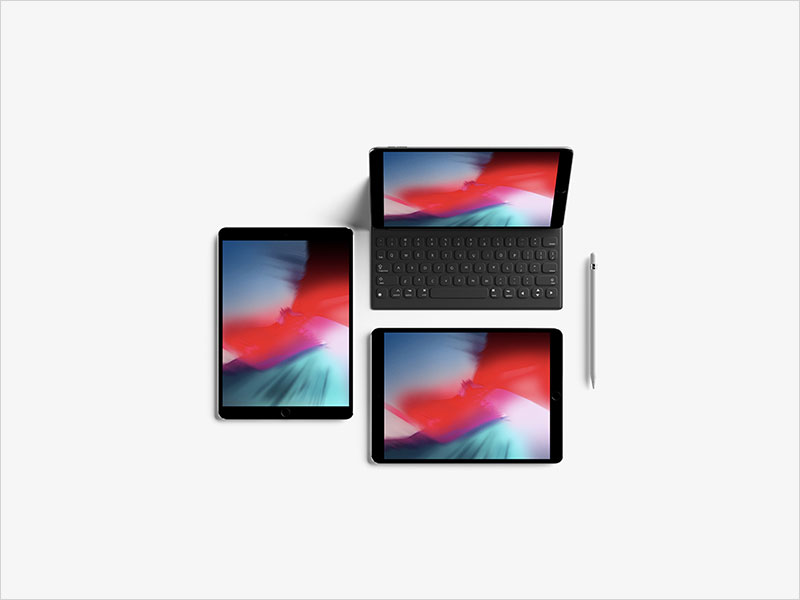 Modern-Top-View-iPad-Pro-10.5-Inch-Mockup