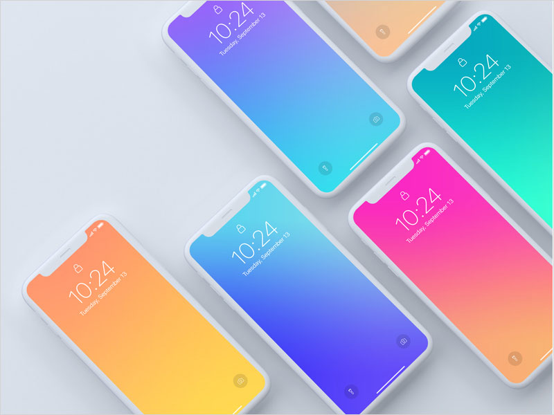 Top-View-of-iPhone-X-devices-Mockup