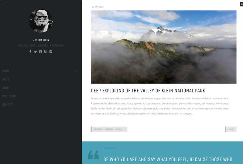 Trooper---Personal-WordPress-Theme