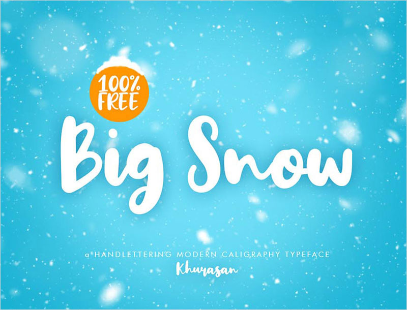Big-Snow---Free-Brush-Calligraphy-Font