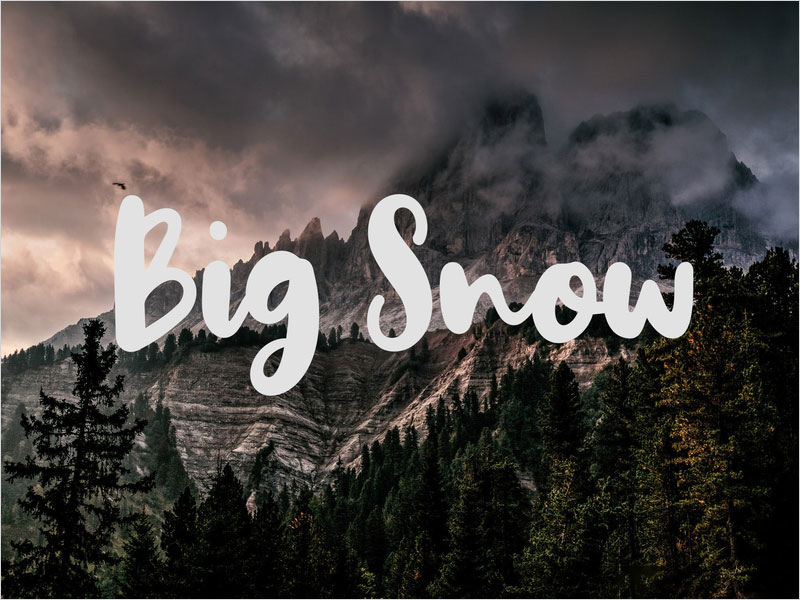 Big-Snow-Free-Typeface