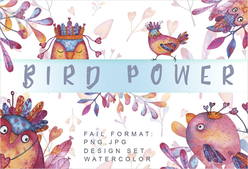 Bird-Power-Watercolor-set