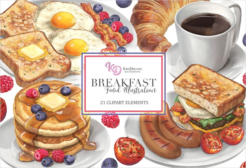 Breakfast-Food-Clipart-Elements