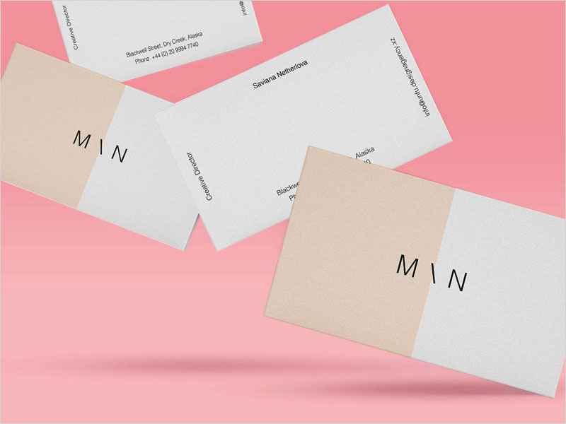 Floating-Business-Card-Mockup