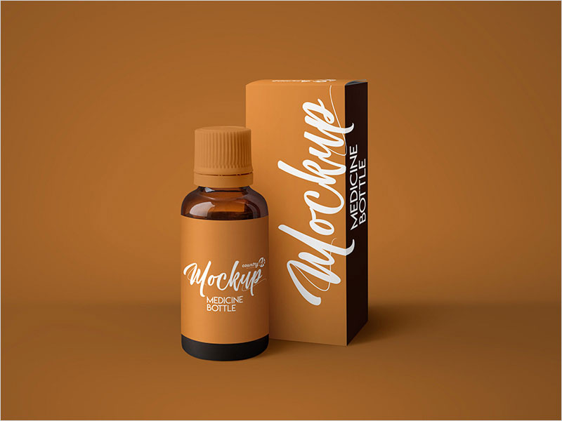Free-Amber-Medicine-Bottle-MockUp-in-4k