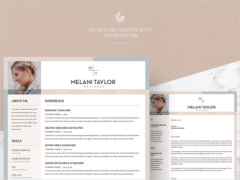 Free-CV-Resume-Template-With-Cover-Letter