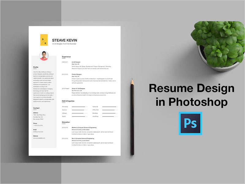 Free-CV-Resume-Template-in-Photoshop-PSD