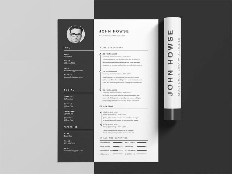 Free-Clean-CV-Template-with-Cover-Letter