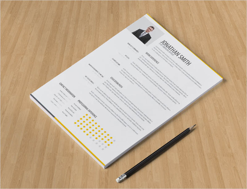Free-Clean-Minimalist-Resume-Template