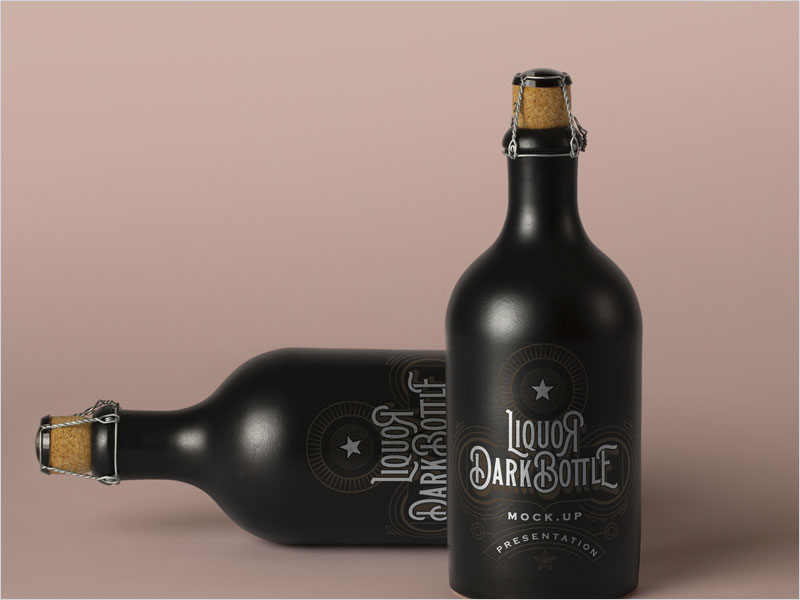 Free-Dark-Psd-Liquor-Bottle-Mockup