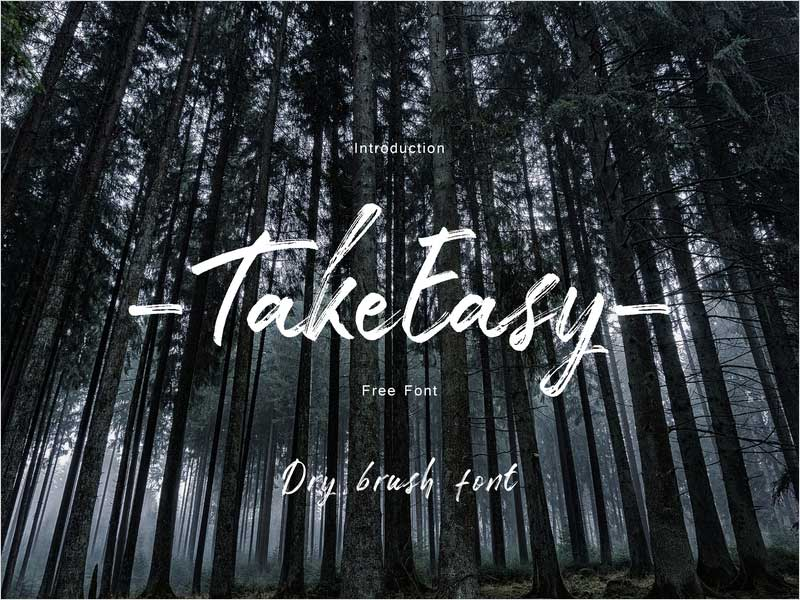 Free-Font---Take-Easy