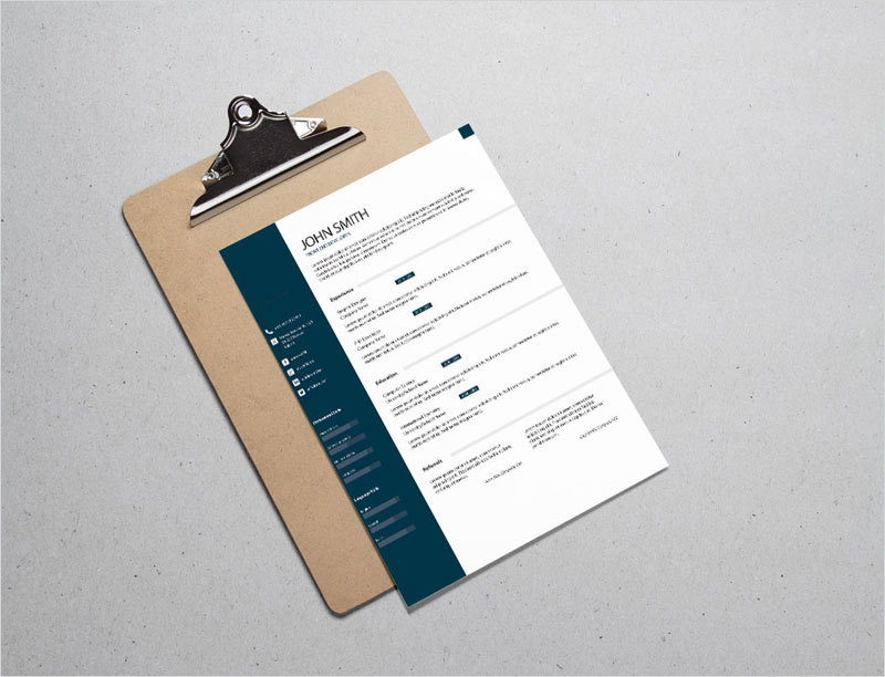 Free-Formal-Classic-Resume-Template
