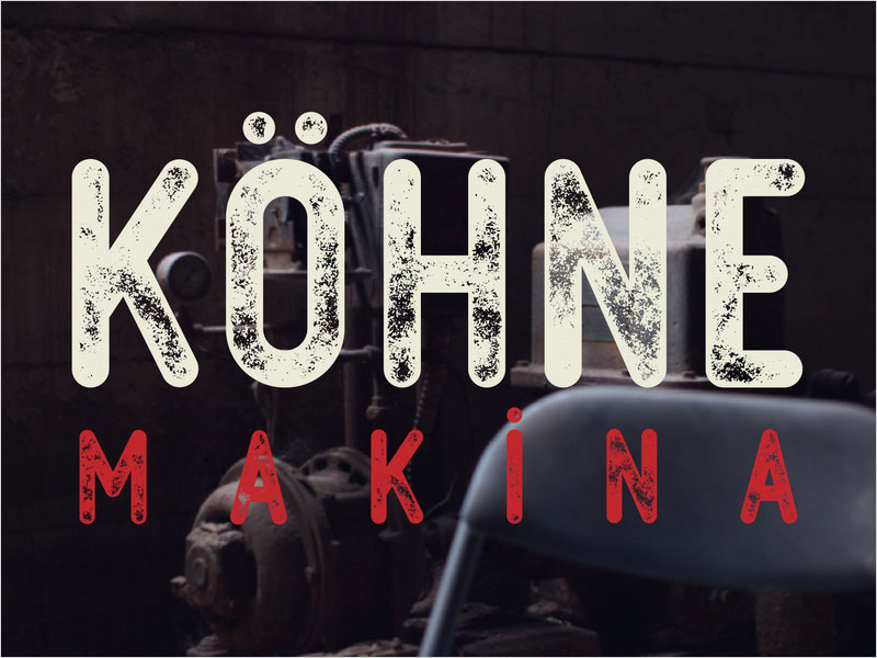 Free-Kohne-Makina-Textured-Vector-Font