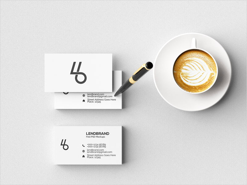Free-Minimal-Business-Card-Psd-Mockup