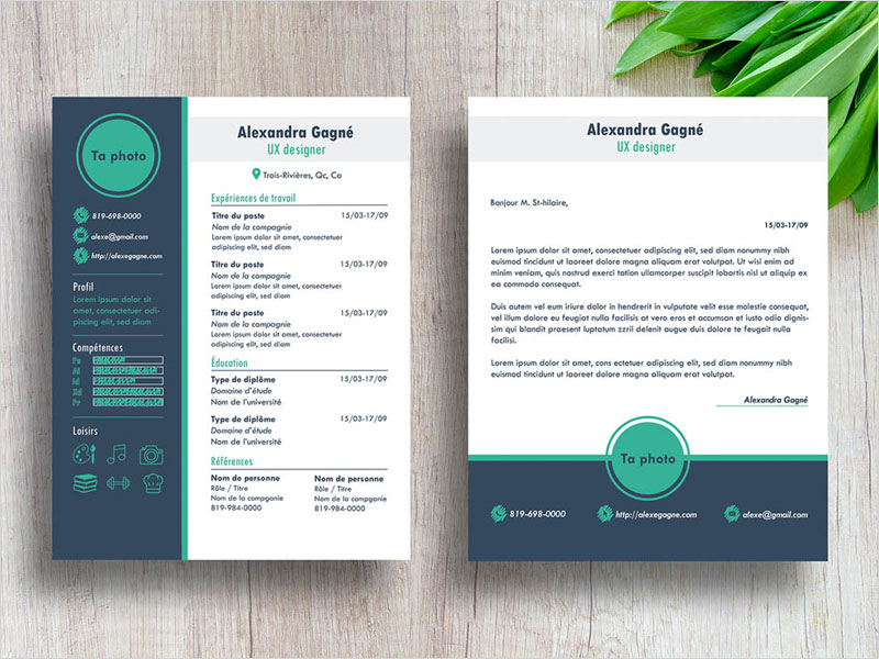 Free-Modern-Resume-Template-With-Cover-Letter-Page