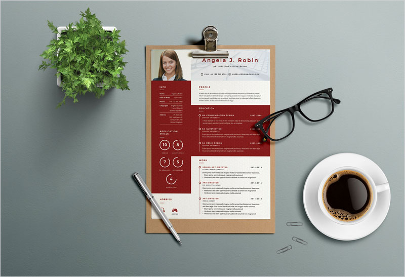 Free-PSD-Resume-Template