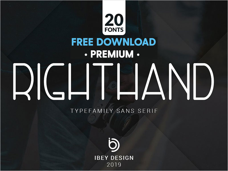 Free-Premium-Download---RightHand---20-Fonts-Included