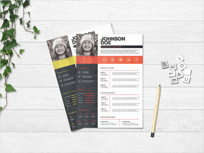 Free-Professional-CV-Resume-PSD-Template
