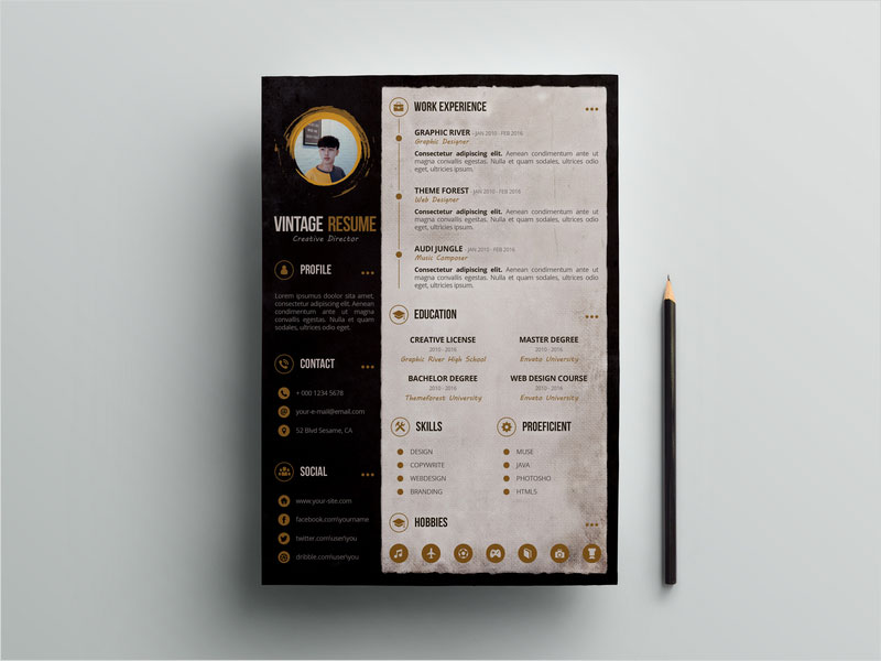 Free-Retro-CV-Resume-Template