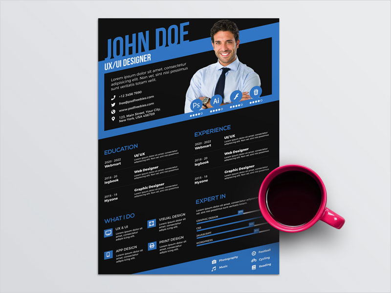 Free-Stylish-Designer-CV-Template