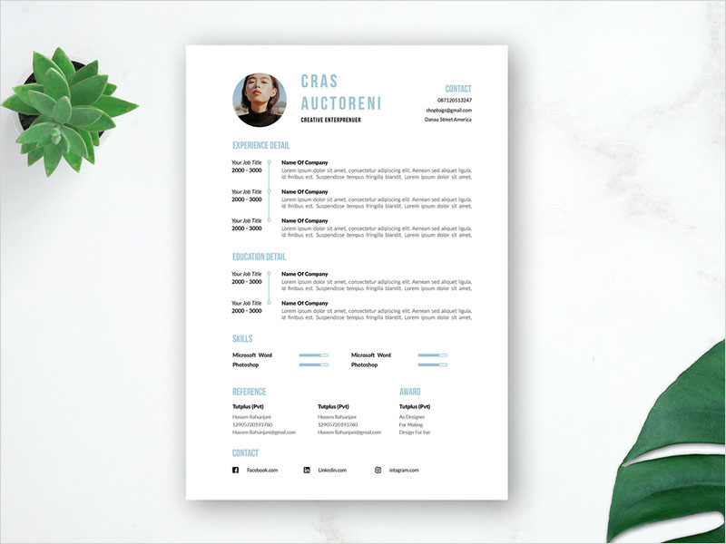 Free-Timeline-Resume-Template-with-Cover-Letter