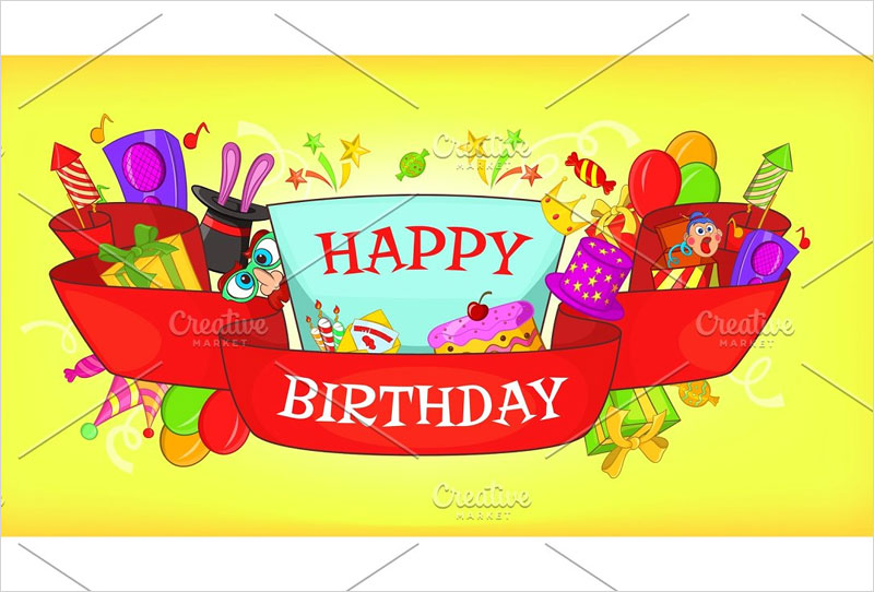 Happy-birthday-horizontal-banner