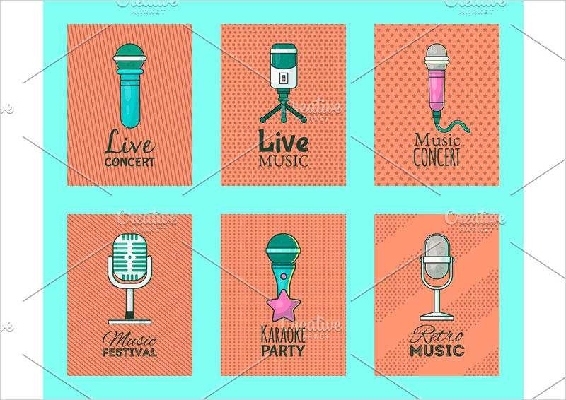 Microphone-set-of-cards-vector