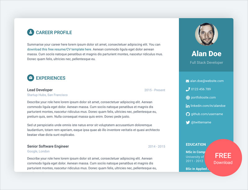 Orbit---Free-Resume-CV-Template-for-Developers