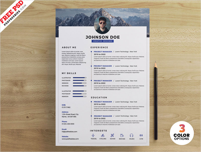 PSD-Clean-Resume-Design-Templates