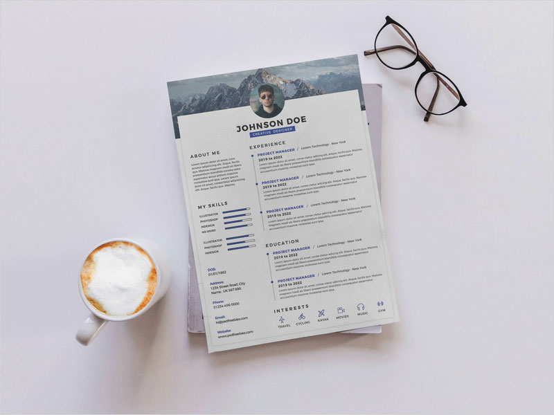 PSD-Timeline-Resume---Free-Download