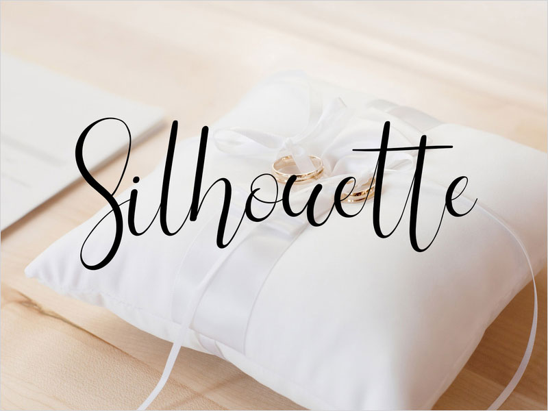 Silhouette-Free-Wedding-Font