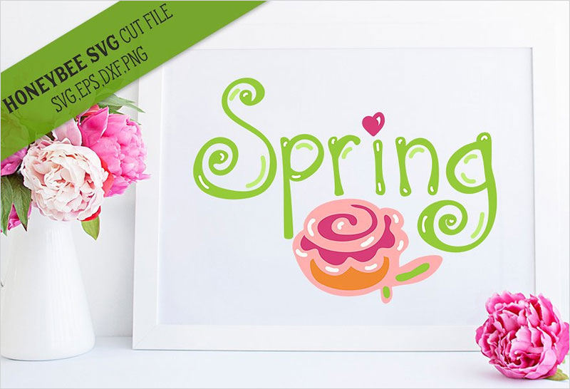 Spring-Hand-SVG-Cut-File