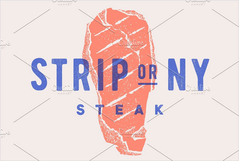 Steak,-Strip-or-New-York.-Poster
