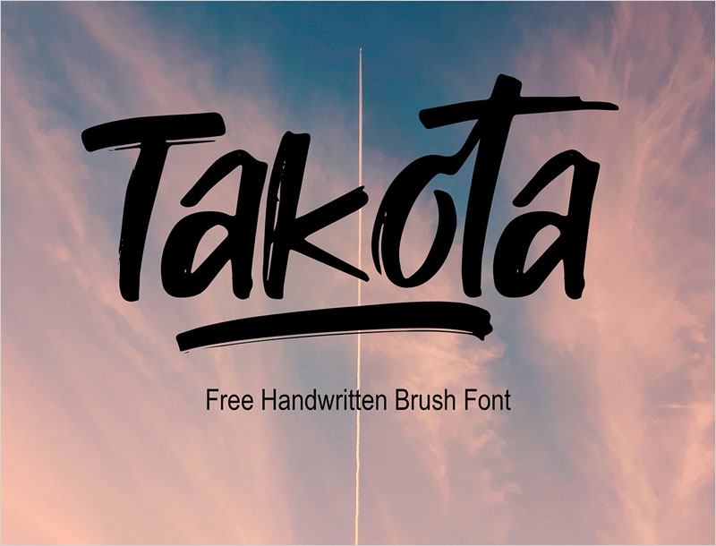 Takota---free-handwritten-brush-font